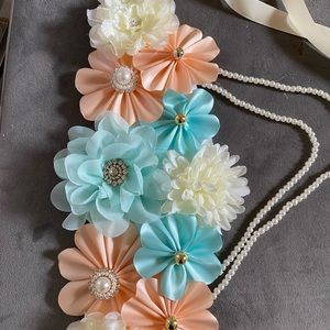 Gender reveal mint and peach set